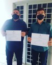 Edivaldo e Henrique foram diplomados nesta sexta(18)